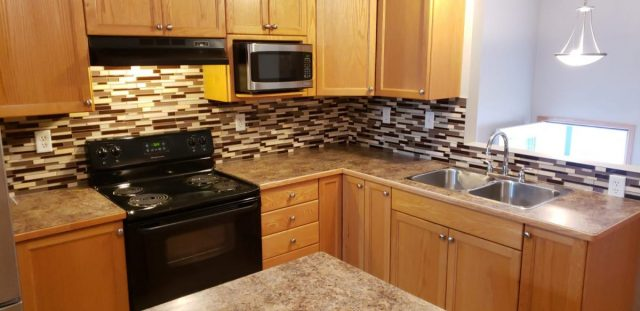 light wood house kitchen cabinets in red deer